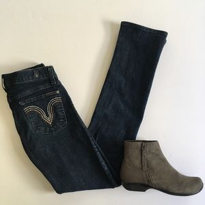Size 26 7 For All Mankind Kate Straight Leg Dark